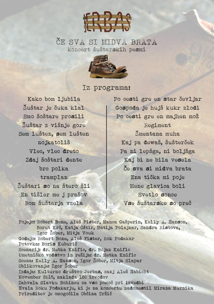 programski list